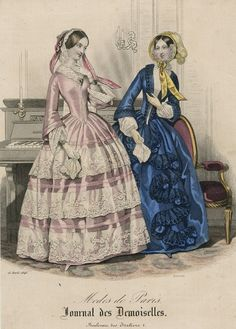April fashions, 1848 France, Journal des Demoiselles