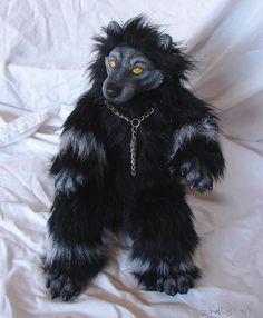 I love this stuffed werewolf