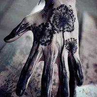 Dandelion hand by ~allisonindraa on deviantART