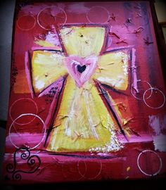 Textured Cross Canvas