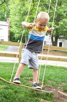 Skateboard Swing...the husband would like this
