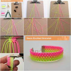 DIY Bright Neon Knotted Bracelet | iCreativeIdeas.com Follow Us on Facebook --> https://www.facebook.com/iCreativeIdeas