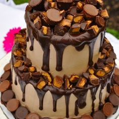 Reeses Peanut Butter Cup Wedding Cake!
