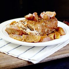 Slow Cooker Pork Loin and Apples
