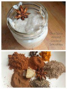Chai Spice Mix + Chai Spice Almond Coconut Smoothie #smoothie