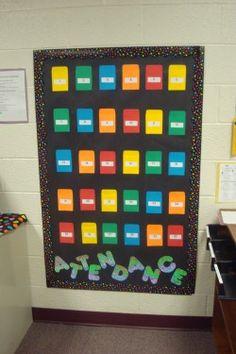 Class Tour - Mrs. Kady's Fifth Grade Classroom attendance board