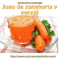 Jugo de Zanahoria y perejil