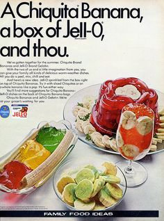 My mom always made Jello with bananas and walnuts.  I loved it!