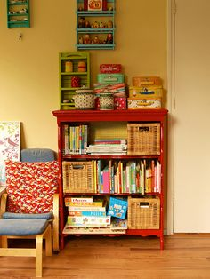 Sweet Red Bookshelf