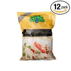 Peacock Brown Rice Vermicelli, 7-Ounce Packages (Pack of 12) $27.60