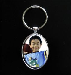 Instant Oval Photo Keychain Kit