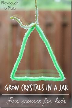 How to Grow Crystals in a Jar | @Playdough2Plato on @mamamissblog  #kidscience #preschoolscience