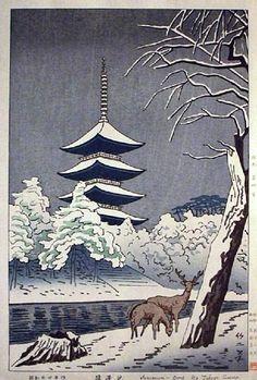 Sarusawa Pond, Nara  by Takeji Asano, 1949