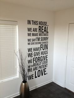 Text on the wall.. I'm in love with this!