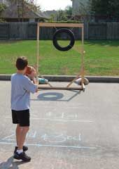 Football toss!  More game ideas over at CarnivalSavers.com