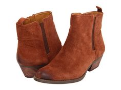 http://janepilebni.tumblr.com, Nine West Sosie - Part of the Vintage America Collection from Nine West?. Add a rugged touch to your look with these cute booties!Side-zip closure. Suede upper with distressed toe. Man-made lining. Lightly cushioned man-made footbed. Stacked heel. Man-made sole. Imported. Product measurements were taken using size 7. 5 M. Please note that measurements may vary by size. Check out these comfort-enhancing accessories: