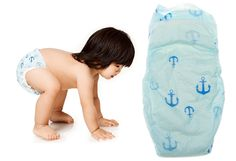 Biodegradable diapers from 'The Honest Company' by Jessica Alba. How freaking CUTE are these little anchor diapers???