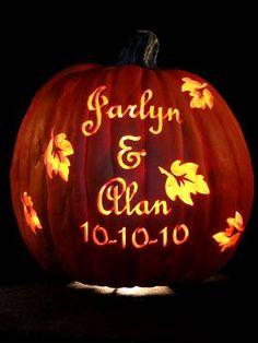 Wedding pumpkin carving