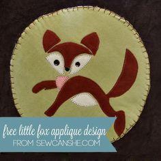 DIY Fox Applique - FREE Pattern