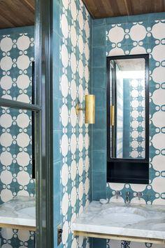 patterned #bathroom tiles