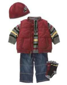 Love this boys winter outfit.