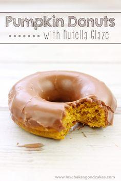 Pumpkin Donuts with Nutella Glaze