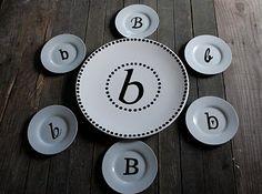 DIY monogram plates