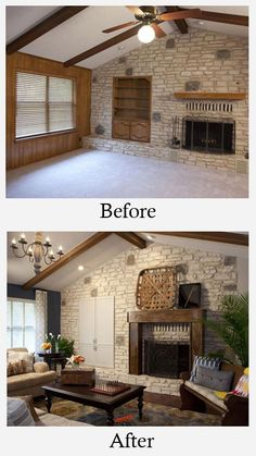Rustic living room makeover.