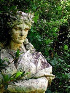 statue garden statuary, goddesses, garden art, garden angels, gardens, stone, garden sculptures, garden statues, green goddess