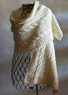 Free Pattern: Quick Knit Coin Lace and Cable Wrap