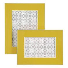 High gloss Gelato Frames in Lemon, $12.95