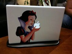 books, disney princesses, laptops, apple computers, daughter, sticker, mac, apples, snow white