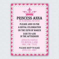 Printable Princess Party