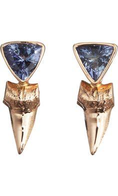Dezso by Sara Beltran Shark Tooth Tanzanite Earrings