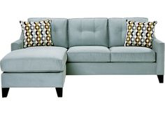 picture of Cindy Crawford Home   Madison Place Hydra 2 Pc Sleeper Sectional  from Sleeper Sectionals Furniture