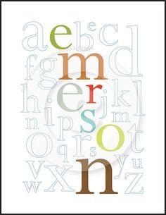 Love this name print idea