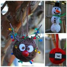 Yarn Christmas Ornament