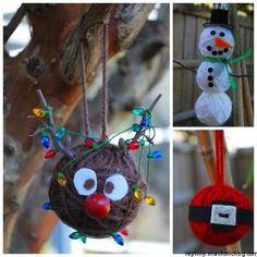 Yarn Christmas Ornament