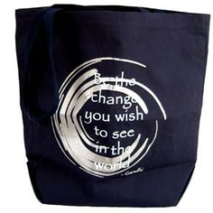 Be the Change - Canvas Tote - Only 1 Left! - pagan wiccan witchcraft magick ritual supplies