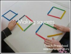 Making squares by Teach Preschool squar, teach preschool