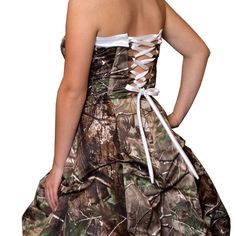 Camo Formal Wear :: Bridal :: Realtree Camo Wedding Gown with Detachable Train - The RealStore at Realtree.com