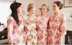 kimono crossov, bridesmaid kimono, wedding robe, wedding favors, bridesmaid robe