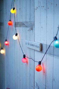 Let the Summer begin... ♥ coloured hanging lights!