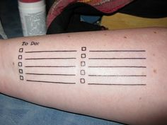 A tattoo that all teachers should have! Lol Personality Types, List Tattoo, Todo List, Function Tattoo, Funny Humor, Funni, Tattoos, Morning Coffee, A Tattoo