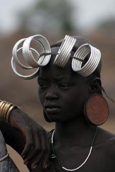 Ethiopia. Mursi woman