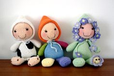 Sleeping buddies, lavender stuffed doll, free crochet pattern
