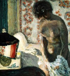 nude with a lamp - bonnard