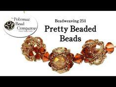 How to Make Pretty Beaded Beads - YouTube