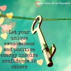 Positive energy quote via Never Give Up On Yourself on Facebook