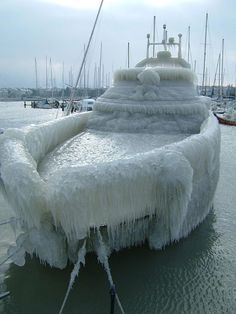 Boat after Ice Storm